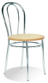 Кафе стол TULIPAN wood chrome