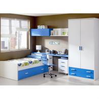 детска стая 96 в бяло и синьо