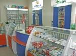 Изработване на търговски щандове за аптеки по поръчка.